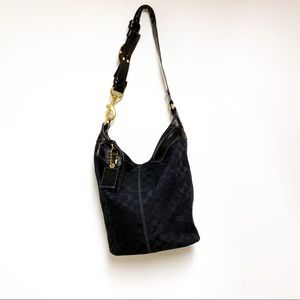 Coach XL Black Bleecker Bucket Bag